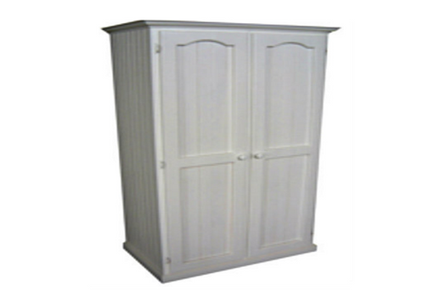 MUDGEE TIMBER 2 DOOR WARDROBE - 1800(H) x 900(W) - WHITE