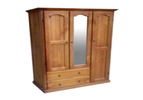 MUDGEE UTILITY WARDROBE WITH MIRROR IN THE MIDDLE - 1900(H) X 1300(W)  - ASSORTED COLOURS AVAILABLE