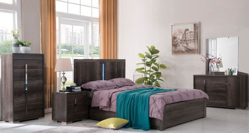 YONKERS  KING 6 PIECE (THE LOT  ) BEDROOM SUITE  ( 13-15-14-1-3-15) - CHARCOAL