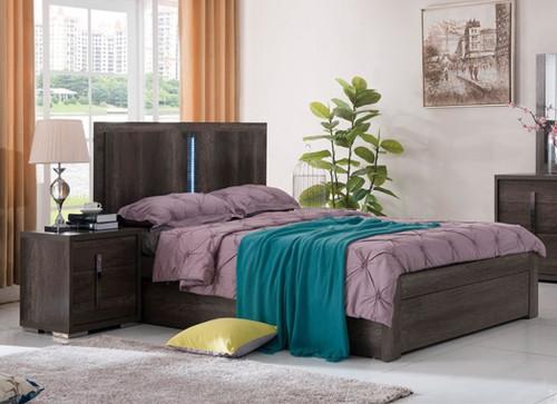 YONKERS DOUBLE OR QUEEN 3 PIECE (BEDSIDE) BEDROOM SUITE   - CHARCOAL