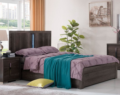 KING  YONKERS BED WITH STORAGE OPTIONS - ( 13-15-14-1-3-15) - CHARCOAL