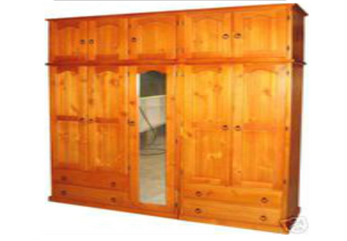 MUDGEE (AUSSIE MADE) TIMBER MULTIROBE WITH FEDERATION TOP STORAGE - 2250(H) X  2000(W) - ASSORTED COLOURS