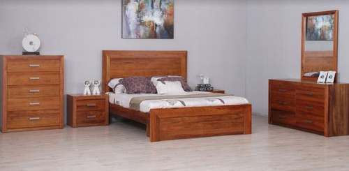 MANDANI QUEEN  6 PIECE (THE LOT)  BEDROOM SUITE - (MODEL-23-5-12-12-9-14-20-15-14)  - AS PICTURED