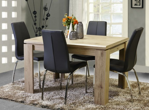 CAMPFIRE  5 PIECE DINING SET - WITH  1200L X 900W TABLE - NATURAL
