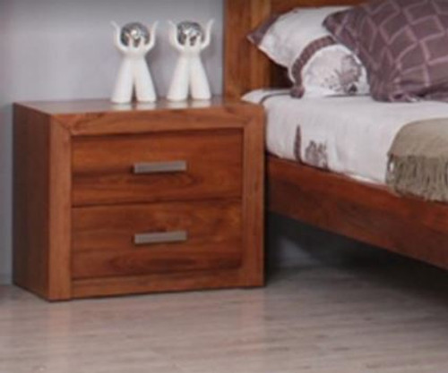 MANDANI BEDSIDE TABLE WITH 2 DRAWERS -  (MODEL-23-5-12-12-9-14-20-15-14) - AS PICTURED