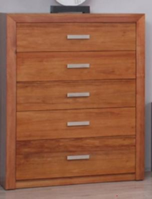 MANDANI TALLBOY CHEST WITH 5  DRAWERS -  (MODEL-23-5-12-12-9-14-20-15-14) - AS PICTURED