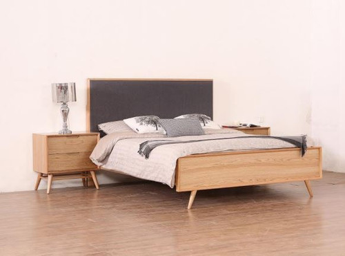 ALGIERS KING  3 PIECE (BEDSIDE)  BEDROOM SUITE - (MODEL-19-5-22-9-12-12-5)  - NATURAL