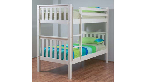 SINGLE SUSSEX/AWESOME BUNK BED - ARCTIC WHITE