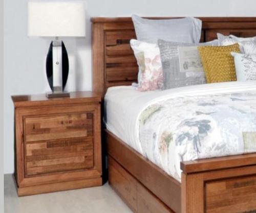 BERTROSE   TASMANIAN OAK BEDSIDE TABLE  - (MODEL:3-1-18-12-9-19-12-5) - AS PICTURED