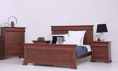 BRADLEY   KING  4  PIECE (TALLBOY )  BEDROOM SUITE - (MODEL:3-1-18-15-12-9-14-5)  -  AS PICTURED