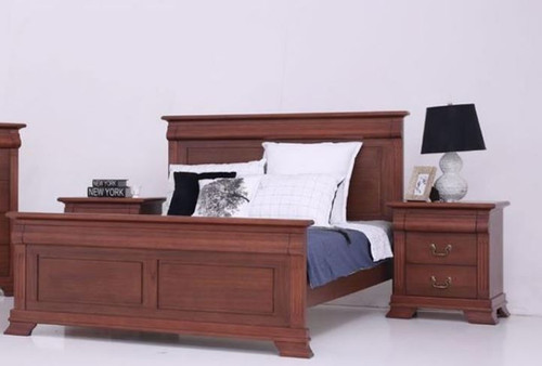 BRADLEY   QUEEN   3  PIECE (BEDSIDE)  BEDROOM SUITE - (MODEL:3-1-18-15-12-9-14-5)  -  AS PICTURED