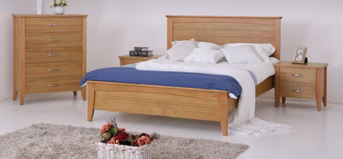 MURO  DOUBLE OR QUEEN  4   PIECE (TALLBOY )  BEDROOM SUITE - (MODEL:3-15-19-20-1)  -  AS PICTURED
