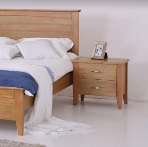 MURO  2 DRAWER BEDSIDE TABLE  - (MODEL:3-15-19-20-1)  -  AS PICTURED