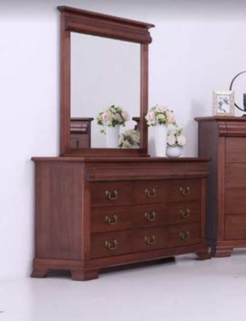 BRADLEY  DRESSING TABLE  WITH MIRROR  -   (MODEL:3-1-18-15-12-9-14-5) - AS PICTURED