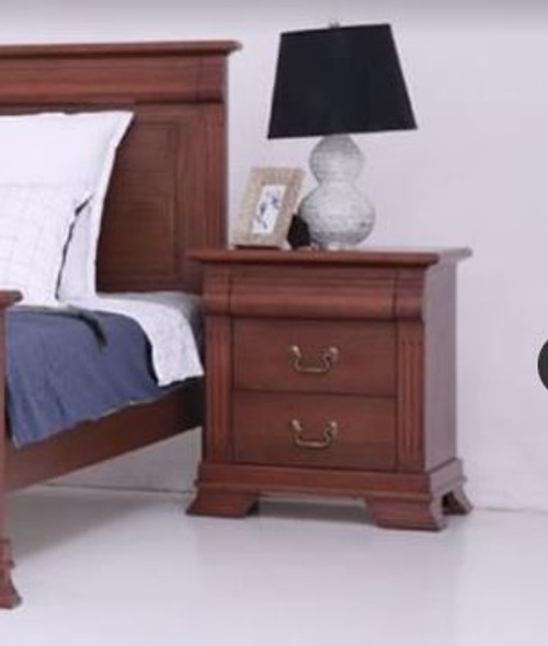 BRADLEY 3 DRAWER BEDSIDE TABLE - (MODEL:3-1-18-15-12-9-14-5) - AS PICTURED