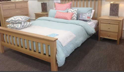 GLADSTINE  KING  4  PIECE (TALLBOY )  BEDROOM SUITE - (MODEL:5-16-19-15-14) - AS PICTURED