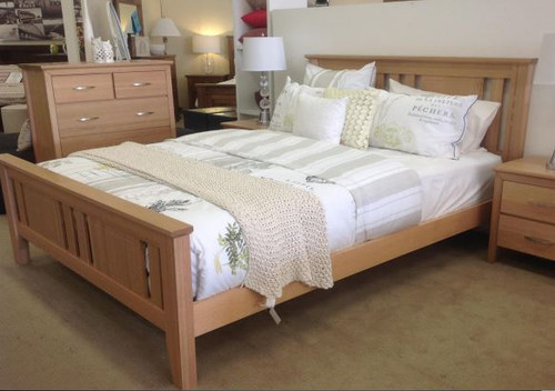 KING WESTHELM HARDWOOD BED FRAME - (MODEL:8-1-13-16-20-15-14)