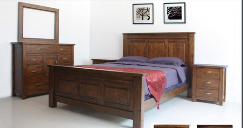 PARSONS  KING  5 PIECE (DRESSER)  BEDROOM SUITE - (MODEL:7-1-22-1-14-1))