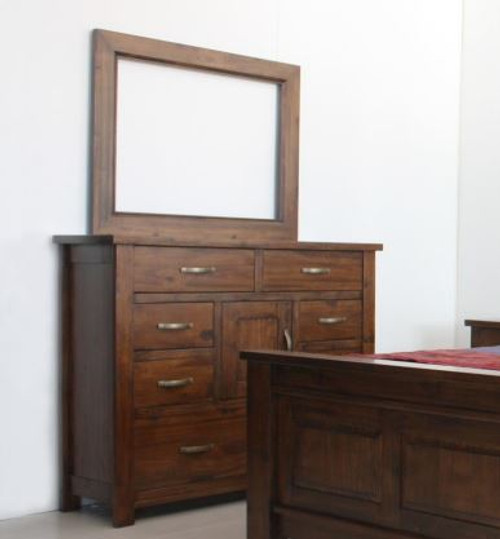 PARSONS DRESSING  TABLE WITH MIRROR - (MODEL:7-1-22-1-14-1) - AS PICTURED