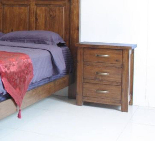 PARSONS 3 DRAWER BEDSIDE TABLE - (MODEL:7-1-22-1-14-1) - AS PICTURED