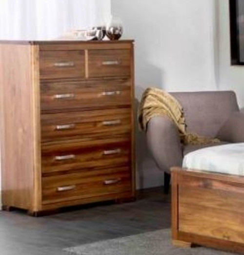 ARNE 6  DRAWER TALLBOY CHEST  - (MODEL:7-1-25-13-1-14) - AS PICTURED