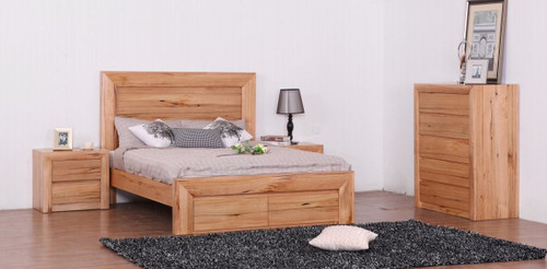 QUAKERS  KING 4 PIECE (TALLBOY)  BEDROOM SUITE - (MODEL:12-25-15-14) -  AS PICTURED)