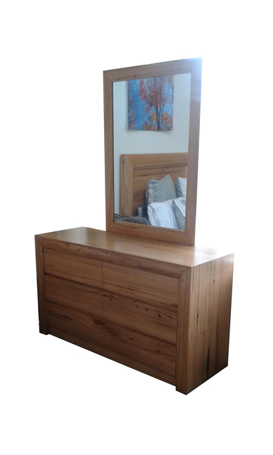 QUAKERS DRESSING TABLE WITH MIRROR   - (MODEL:12-25-15-14) -  AS PICTURED