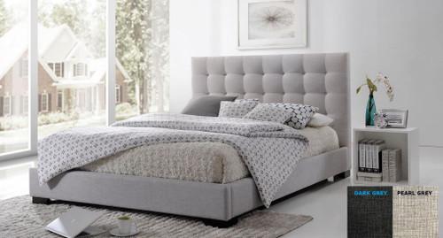 DOUBLE SEAWIND FABRIC BED   - (MODEL:13-5-13-16-8-9-19) -  BEIGE OR DARK GREY