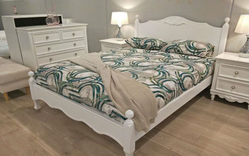 SHNEIDER DOUBLE OR QUEEN 5 PIECE (DRESSER) BEDROOM SUITE - (MODEL:16-1-18-9-19-9-5-14-14-5) - AS PICTURED