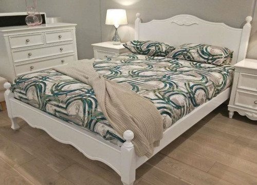 DOUBLE   SHNEIDER  BED FRAME ONLY - (MODEL:16-1-18-9-19-9-5-14-14-5)  -  AS PICTURED