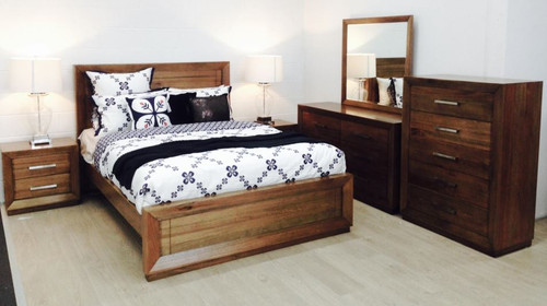 ZEALOT KING 4  PIECE (TALLBOY )  BEDROOM SUITE - (MODEL:18-15-13-1)