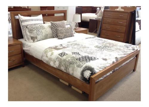 KING  TAMILA  HARDWOOD  BED FRAME - (MODEL:19-20-1-18-11)  - AS PICTURED