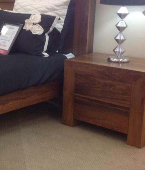 COBRIZA 2 DRAWER BEDSIDE TABLE  - (MODEL:22-9-19-20-1-18-9-1)