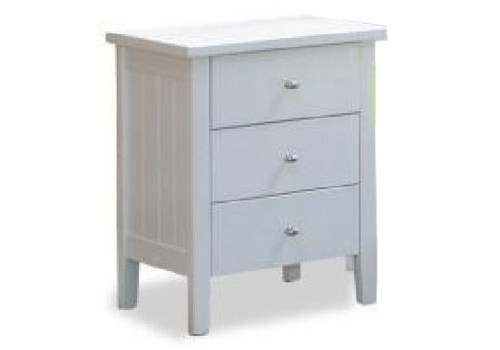 SIMPLY 2 DRAWER BEDSIDE TABLE - WHITE