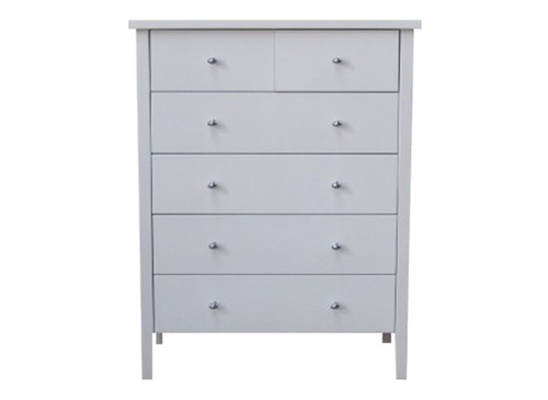 PACIFIC  6  DRAWER TALLBOY CHEST  - (MODEL:19-9-13-16-12-25)  - WHITE