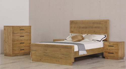 SYRACUSE KING 4  PIECE TALLBOY  BEDROOM SUITE - (MODEL:1-21-7-21-19-20) - AS PICTURED
