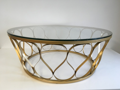 CA179 POWDER COAT COFFEE TABLE - GOLD