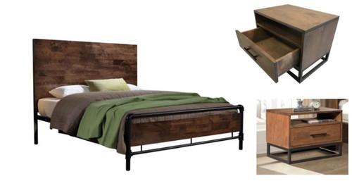 ALEXANDER QUEEN  3  PIECE BEDSIDE   BEDROOM SUITE - AS PICTURED