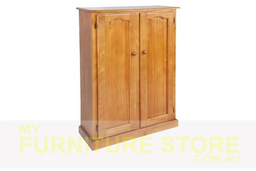 MUDGEE (AUSSIE MADE) SHOE CABINET 2 DOOR - 1200 (H) x 900(W) - ASSORTED COLOURS
