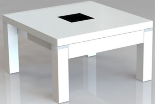CASSIDY LAMP  TABLE WITH DRAWER - HIGH GLOSS WHITE