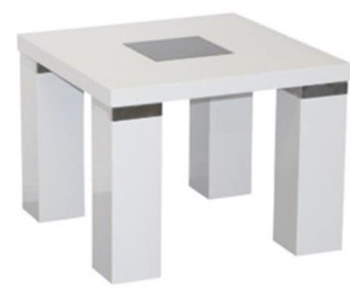 CASSIDY LAMP TABLE - HIGH GLOSS WHITE