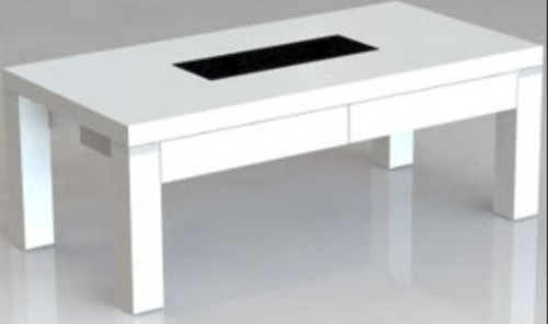 CASSIDY COFFEE  TABLE WITH 2 DRAWERS  - HIGH GLOSS WHITE