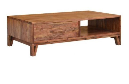 OSKAR   1300(L) RECTANGULAR COFFEE TABLE WITH 2 DRAWERS  - NATURAL