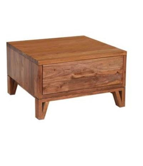 OSKAR  SQUARE LAMP TABLE WITH ONE DRAWER - NATURAL