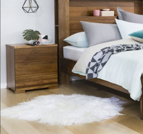 YARRA 3 DRAWERS BEDSIDE TABLE  - AS PICTURED