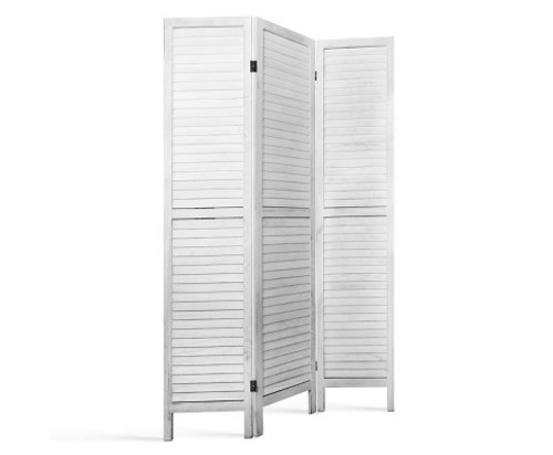 RON ROOM DIVIDER PRIVACY SCREEN  FOLDABLE 3 PARTITION STAND - WHITE