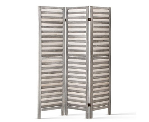 WESTING ROOM DIVIDER PRIVACY SCREEN  FOLDABLE 3 PARTITION STAND -  GREY