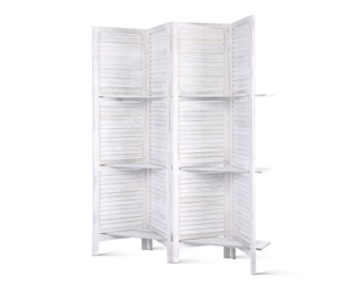 STINROM ROOM DIVIDER PRIVACY SCREEN  FOLDABLE  PARTITION STAND -  GREY
