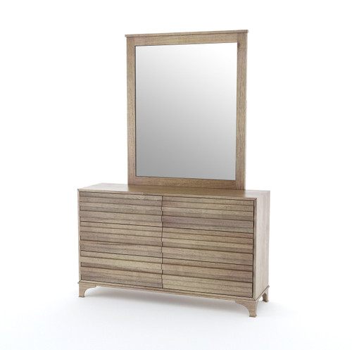 AVERION 6 DRAWER DRESSING TABLE WITH MIRROR - COCOA FINISH