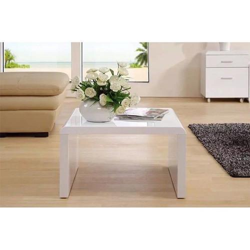 ADAH LAMP TABLE - 600(W) x 600(D) - HIGH GLOSS  WHITE